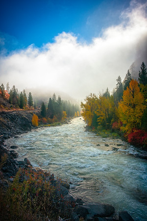 Leavenworth Bend And Rising Clouds - Leavenworth, Central Washington, WA
