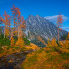 River Leads In To Mt Stuart - Mt Stuart, Lake Ingalls, Alpine Lakes Wilderness, WA