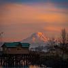 Mount Rainier At Sunset From Pt Defiance Park - Tacoma, Washington