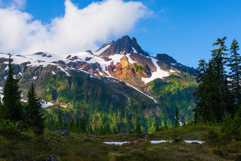 Hints Of Light And Peaks - Lake Anne,  Mount Baker, North Cascades National Park, WA