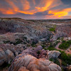 Colorful Bubble Rocks Leading Down Casper, Wyoming