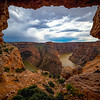 A Large Window Looking Into Bighorn Canyon - Bighorn Canyon National Recreation Area, Wyoming