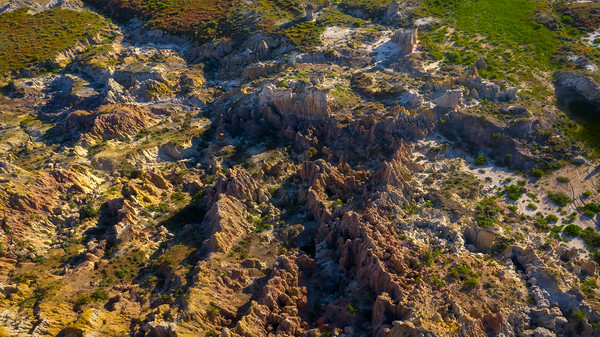 Looking Into Canyon From The Air - Casper, Wyoming