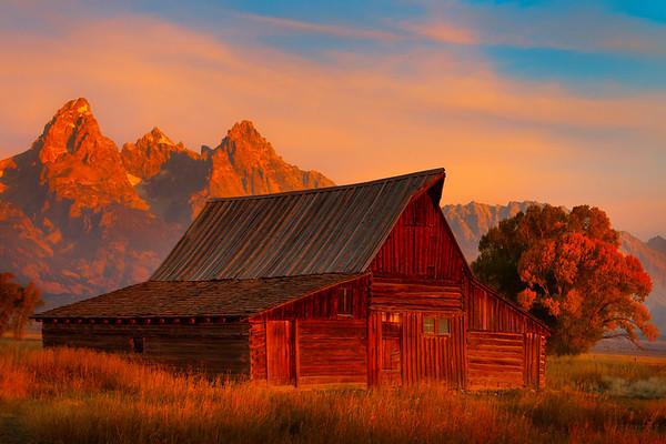 Moulton Barn At Late Sunset - Grand Teton National Park, WY
