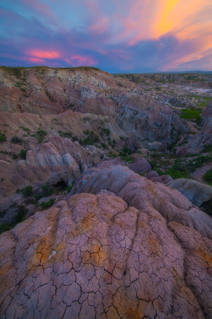 As Twilight Light Reflects Into Canyon Casper, Wyoming