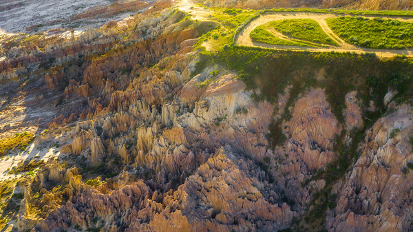 Warmth Of Late Light Spreads Into Canyon - Casper, Wyoming