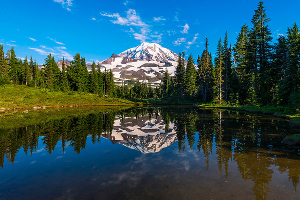 Spray Park Reflections - Spray Park,  Mount Rainier National Park, Washington