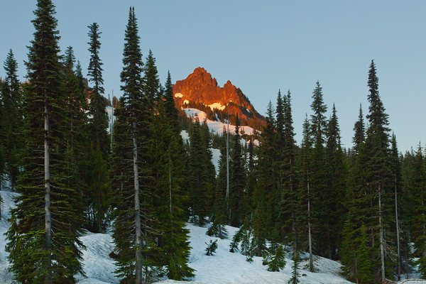 Images from late spring on Reflection Lake in Mount Rainier National Park