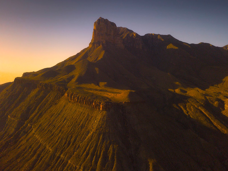 Guadalupe Peaks From An Aerial Perspective - Guadalupe Mountains National Park and Chihuahuan Desert, West Texas