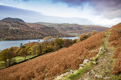 Mountain Path above Ullswater in the English Lake District