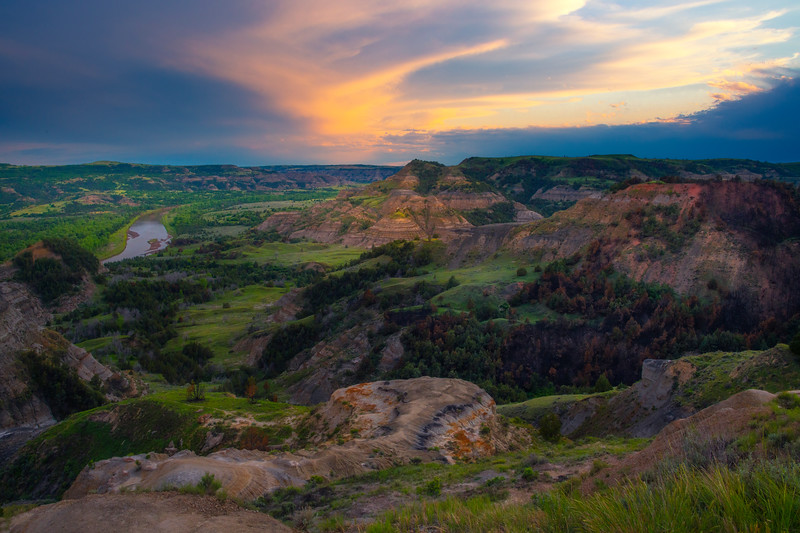 The Rainbow Colors From The Badlands Overlook - Theodore Roosevelt National Park, North Dakota