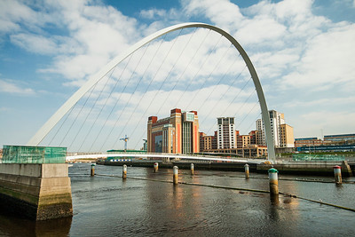 Millenium Bridge Over The River Tyne, Newcastle