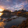 Frank Island Sunset Explosion - Frank Island, Chesterman Beach, Tofino, Vancouver Island, BC, Canada