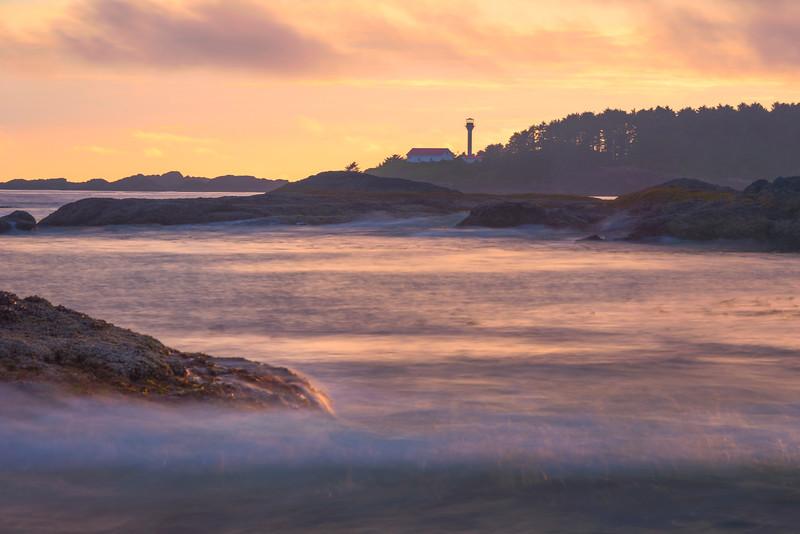 Lennard Island Lighthouse From Frank Island - Frank Island, Chesterman Beach, Tofino, Vancouver Island, BC, Canada