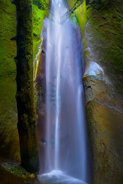 Waterfall Caves Along Vancouver Island - Sombrio Beach, Juan De Fuca Trail, Vancouver Island, British Columbia, Canada