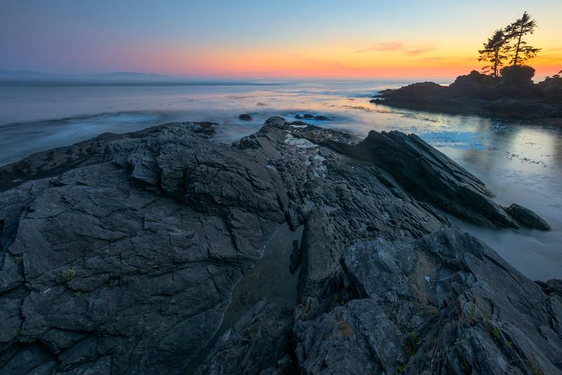 Tidepools In Bay At Sunset - Botany Bay, Botanical Beach, Juan De Fuca Trail, Vancouver Island, BC, Canada