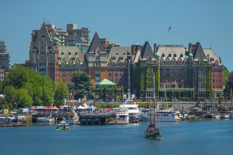 Empress Hotel And Victoria Harbor - Victoria, Vancouver Island, British Columbia, Canada
