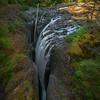 English River Falls From Bridge - Englishman River Falls Provincial Park, Parksville, Vancouver Island, BC, Canada