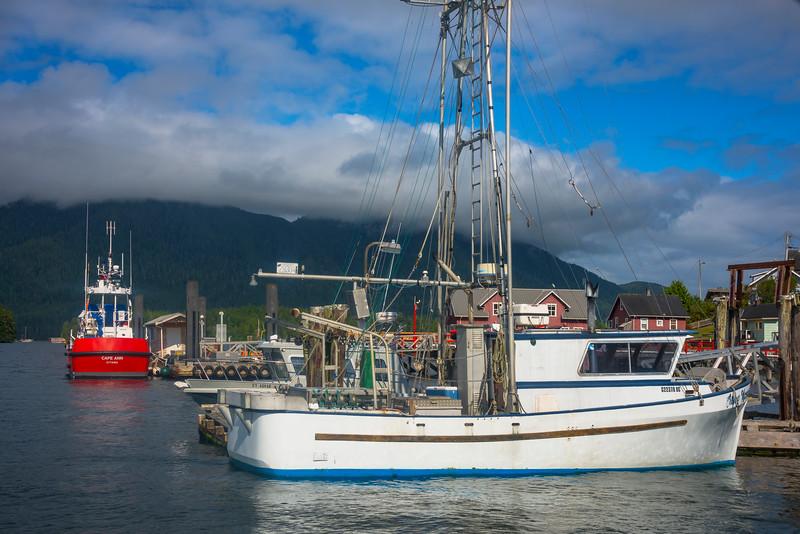 The Fishing Wharf At Tofino Tofino Wharf, Tofino, Vancouver Island, BC, Canada
