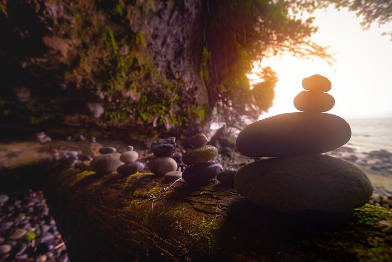 Treasures Inside The Cave - Mystic Beach, Juan De Fuca Marine Trail, Vancouver Island, BC, Canada