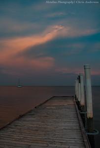 Cedar Key Dock Sunset