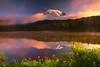 Surreal Light From Reflection Lakes - Mount Rainier National Park, Washington