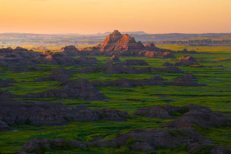 Skipping Stones In Morning Light - Badlands National Park, South Dakota
