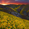 Fire Skies From The Top - Carrizo Plain National Monument, California