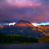 Explosion Of Pink Clouds Above Swiftcurrent Lake - Swiftcurrent Lake, Many Glacier, Glacier National Park, Montana