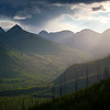 Layers Of Light Into The Valley - Going To The Sun Road, Glacier National Park, Montana