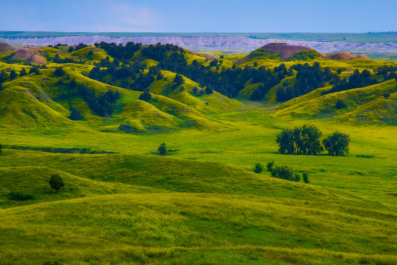In The Depths Of The Yelllow Valley - Badlands National Park, South Dakota