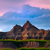 Plateau Levels Leading Into Peak - Badlands National Park, South Dakota