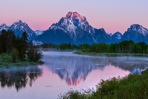 Cherry Reds From Oxbow Bend - Grand Teton National Park, Wyoming St.