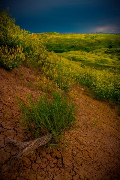 Mud Cracks Point The Way - Badlands National Park, South Dakota