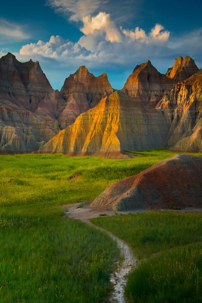A Walking Path That Points Into Escape - Badlands National Park, South Dakota