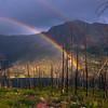 Rainbow Shining Through Trees -  Saint Mary's Lake, Glacier National Park, Montana