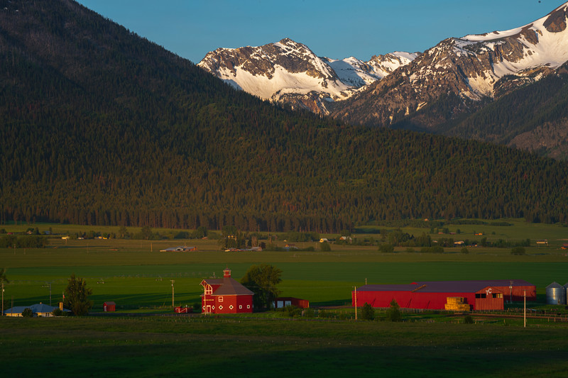 Warmth Spreads Across The Valley Wallowa County, Oregon