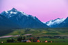 Twilight Color Sets In Over The Wallowa Mountains Wallowa County, Oregon