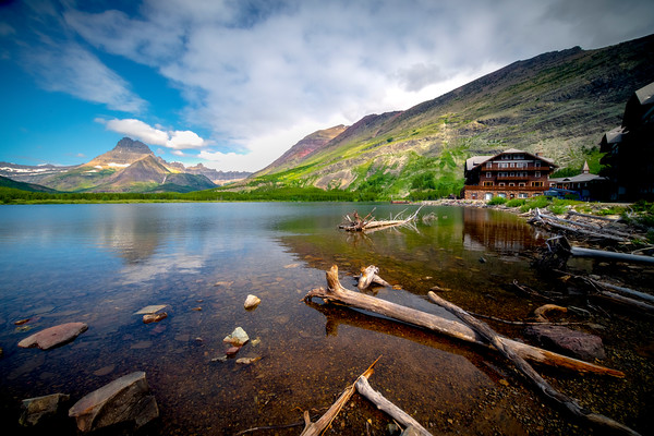 Looking Across Swiftcurrent Lake - Swiftcurrent Lake, Many Glacier, Glacier National Park, Montana