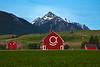 The Smiley Barn Beneath The Wallowa Mountains Wallowa County, Oregon