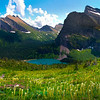 Pano Of Grinnell Lake From Grinnel Glacier Trail - Grinnell Glacier Trail, Many Glacier, Glacier National Park, Montana