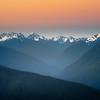 Olympic Range From Hurricane At Sunrise - Hurricane Ridge, Olympic National Park, WA