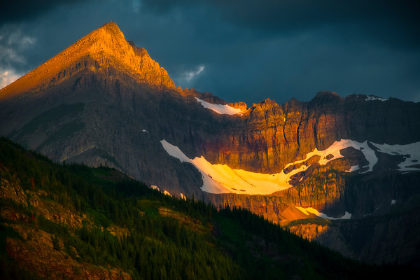 Peak Of Glory - Swiftcurrent Lake, Many Glacier, Glacier National Park, Montana