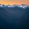 Pink Sunrise Over The Olympics - Hurricane Ridge, Olympic National Park, WA