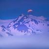 Rising Fog And Eclipse Over Olympics - Hurricane Ridge, Olympic National Park, WA