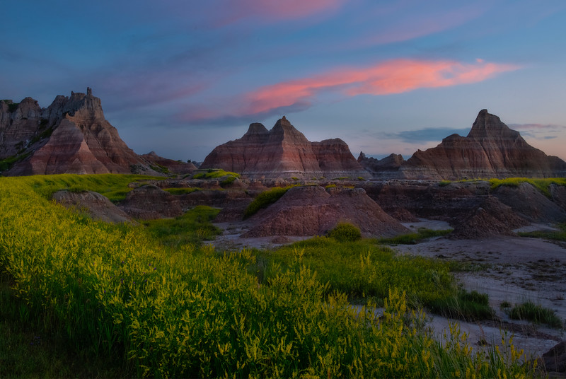 The Big Curve In The Road - Badlands National Park, South Dakota