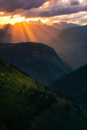 Intersecting Layers Of Light And Shadow - Going To The Sun Road, Glacier National Park, Montana