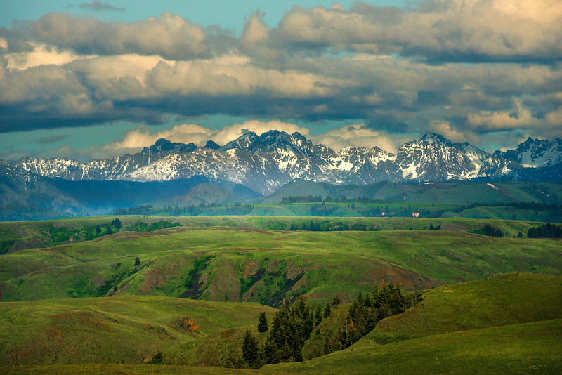 Looking At The Seven Devils From Zumwalt Praries Wallowa County, Oregon