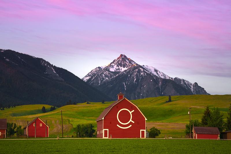 Pink Glow Hanging Over The Wallowas Wallowa County, Oregon