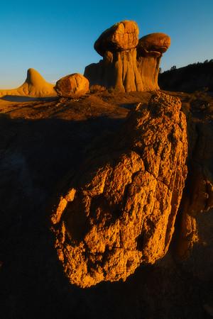 A Moment Of Last Light - Makoshika State Park, Glendive, Eastern Montana